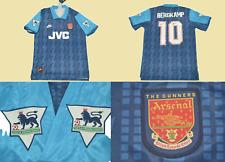 Arsenal jersey 1994 1995 away blue shirt bergkamp playera premier league gunners