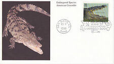 MYSTIC STAMP FIRST DAY COVER - 1996 ENDANGERED AMERICAN CROCODILE SCOTT #3105D