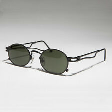 Black Steampunk Optical Quality Vintage Sunglass Green Lens - Iggy