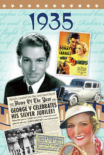 1935 82nd Birthday Gifts - Time of Life News DVD & 1935 Year Greetings Card Gift