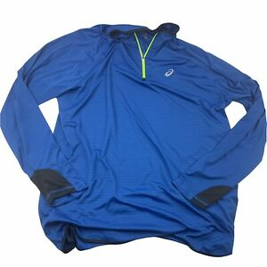 Asics Men's Blue 3XLT Tall 1/4 Zip Pullover Athletic Running Athleisure Shirt