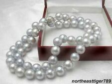 pearl 18 inch necklace Fashion natural 8-9mm gray