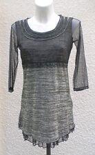 Robe Courte ou Tunique Gris Noire Doré DPM By Depech Mod Taille 1