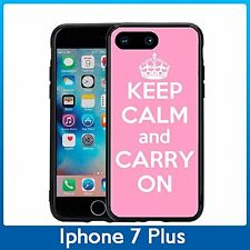 Pink Keep Calm and Carry On For Iphone 7 Plus & Iphone 8 Plus (5.5) Case Cover