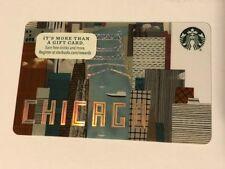 Rare MINT Starbucks Card 2016 Chicago  River - New Unused