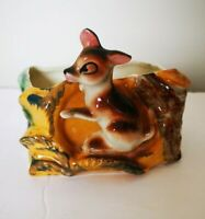 VINTAGE HOME Decor DEER  Figurine  PLANTER  MINT Cdn $ is USA 71c. Made in JAPAN