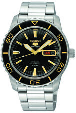 Seiko 5 Automatic Black Dial Stainless Steel Mens Watch SNZH57K1