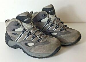 HI-TEC Vantage Women's Grey Leather Hiking Walking Boots Size: 4 (UK) 37 (EUR)