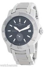 Baume & Mercier Mens Black Dial Stainless Steel Bracelet Watch 5273485