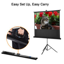 "Excelvan 100"" 16:9 HD Pull Up Projection Screen Movie+Stand Tripod for Projector"