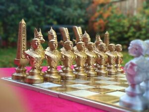 NEW Special Chess: Ancient Egyptian Chess Set (gold and silver)