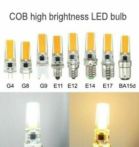 1/5/10pcs G4 G9 E14 5W COB 2508 Led Dimmable bulb White Warm Corn Light 220V