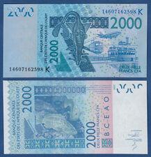 WEST AFRICAN STATES / SENEGAL 2000 Francs 2003 (20)14 UNC  P.716K