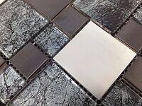 Beautiful High Quality Mix Metal Glass Mosaic Wall Tiles-Kitchen/Bathroom - J15