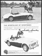1959 Austin Healey 100-Six Convertible photo Blind Brook Polo Club print ad