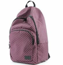 Vans Off the Wall Schooling Pack Burgundy Polka Dots Backpack NWT Laptop Carrier