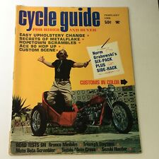 VTG Cycle Guide Magazine February 1968 - Bronco Minibike / Triumph Daytona Tests