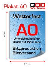 2x PVC-Poster/Plakat-Druck DIN A0 wetterfest für Kundenstopper