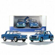 Solido Renault 8 Gordini et Renault 5 Turbo Echelle 1:18 Voitures Miniatures - Bleues (PACK-S180005)