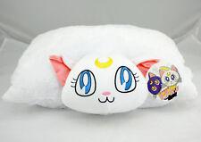 Cute Sailor Moon Happy Cuddle Cushion Toy Transforming White Luna Soft Pillow