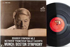 RCA LSC-2522 MUNCH Schubert Symph 2 Beethoven Prometheus BSO 2S/3S SD 1962 EX+