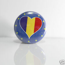 2 Badges Europe [25mm] PIN BACK BUTTON România