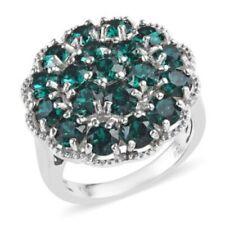 Swarovski Crystal (Emerald) Ring in Platinum Bond Brass, Size 5.