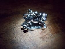 VINTAGE .925 STERLING SILVER MRS O LEARYS COW LANTERN CHICAGO PENDANT/CHARM