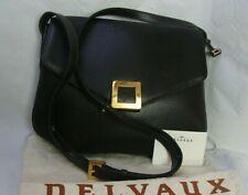 👜 Sac DELVAUX, cuir marron foncé, certificat, sac de protection.