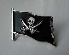 Wholesale Trade lot Pirate Flag Skull Cross Sword Pin Badge Biker Jolly Roger #1