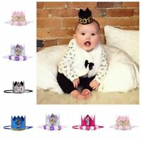 Girl's Gift Baby Headwear Flower Headband Birthday Party Hat Glitter Crown