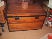 Vintage Large size Trunk, Coffee Table, Storage Chest 40 X 25 X 24