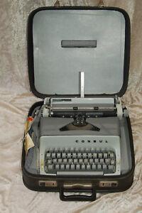 Kleine Consul Reise Schreibmaschine Kofferschreibmaschine Koffer mit 2 Schlüssel