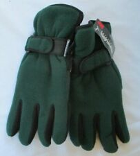 MENS THINSULATE GREEN AND BLACK GLOVES - NWT