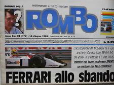 ROMBO n°24 1988 - Mc Laren Senna Prost - Ferrari allo sbando  [SC.7B]