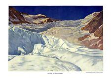 Karlinger Gletscher XL Kunstdruck 1908 Ernst Platz Kaprunertal Glocknergruppe