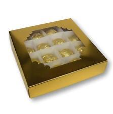 20 ORO 6X6 pollici scatole di cioccolato, dolci Scatole, scatole regalo