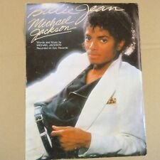 song sheet BILLIE JEAN Michael Jackson 1982