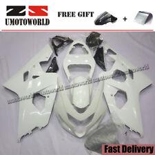 WHITE PAINTED Fairing Kit For Suzuki GSXR600/750 2004-2005 ABS Plastic Bodywork