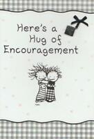 CHILDREN OF THE INNER LIGHT Charm Greeting Card, HERE'S A HUG OF ENCOURAGEMENT