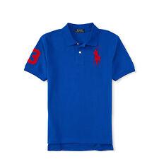 Boy Ralph Lauren Blue Short Sleeve Big Pony Polo Size 7