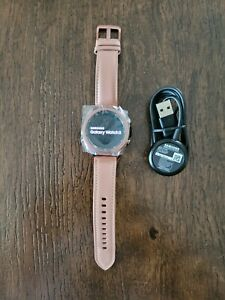 Samsung Galaxy Watch3 41mm SM-R850 Stainless Steel Case Leather Band Mystic Bron