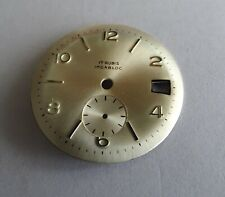 Piece Watchmaking Watch Dial Curved Grey Golden Diameter 1 3/32in Reciprocating