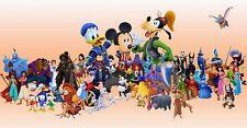 Disney Characters B/W Cross Stitch Chart