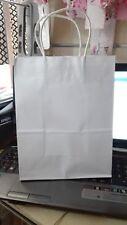 wedding bag sacchetto in carta bianco 27x21x11, 10 pezzi