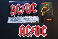 3 alte Aufkleber AC/DC Angus - autocollant AC DC