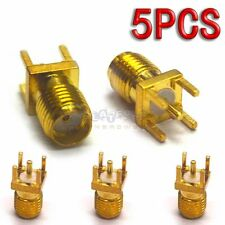 5X Gold SMA-KHD Female Solder PCB Board Mount Straight RF Connector Adapter 001