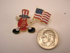 -Mr. Jelly Belly Beans Patriotic American Flag Vintage Lapel Pin advertising