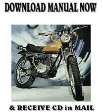 1972 Yamaha RT360 DT250 Enduro factory repair service shop manual on CD