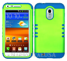 KoolKase Hybrid Cover Case for Samsung Galaxy S2 D710 R760 - Lime Green (R)